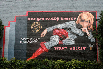 Nancy Sinatra Boots Hollywood mural