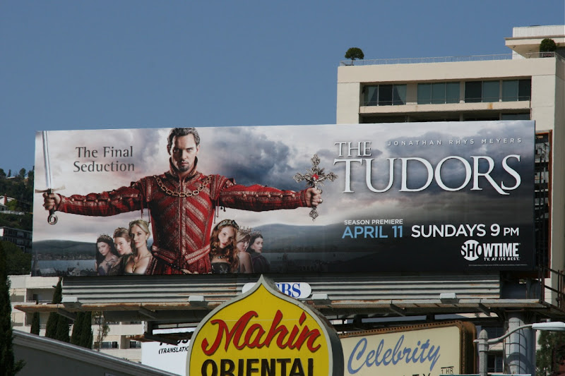 Tudors season 4 TV billboard