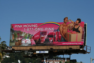 Pink Moving billboard