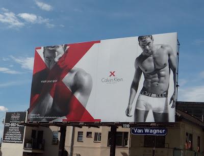 Calvin Klein Kellan Lutz X underwear billboard