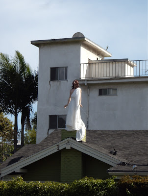Rooftop Jesus display