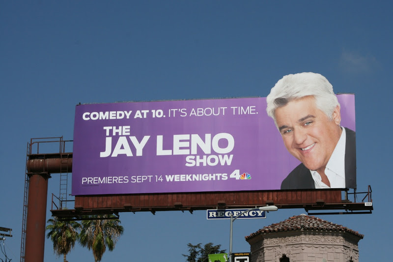 The Jay Leno Show TV billboard