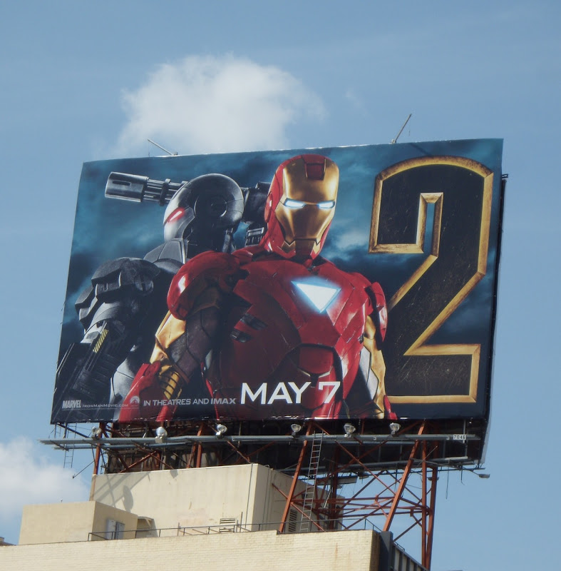 Iron Man 2 movie billboard