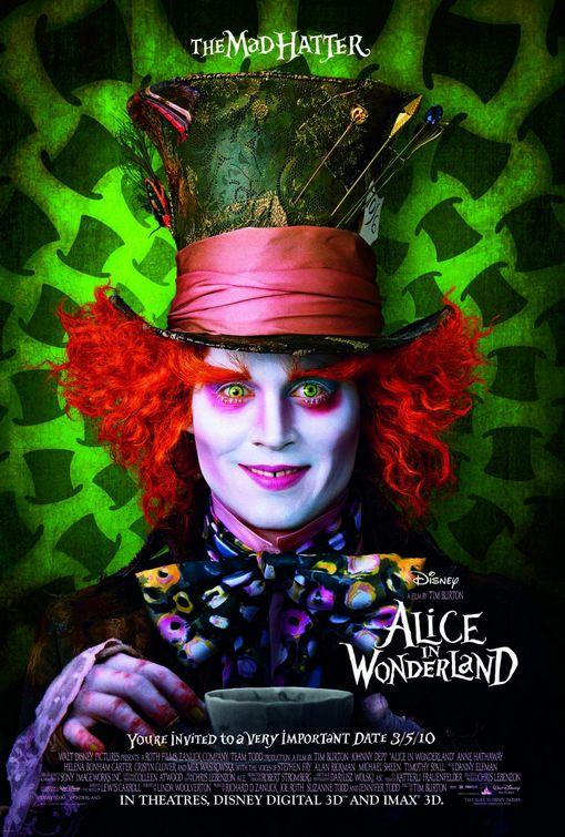 Alice in Wonderland Mad Hatter movie poster