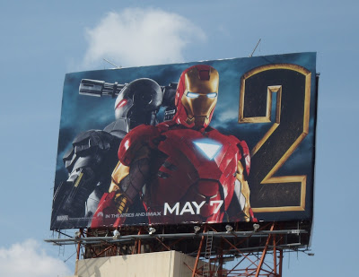 Iron Man 2 film billboard