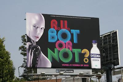 R U Bot or Not Svedka Vodka billboard