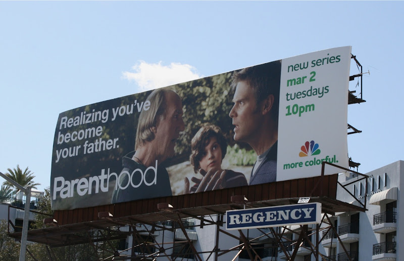 Parenthood You'v become your father TV billboard
