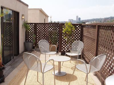 Condo rooftop terrace