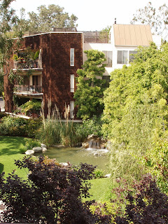 The lovely grounds of our new West Hollywood pad