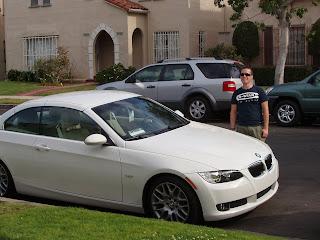 Jason in Hollywood's new car!