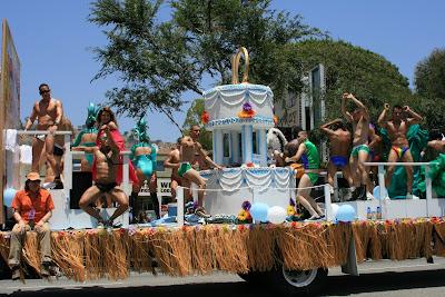 10 years of Adelente Latino gay magazine float