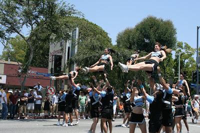 Cheerleaders wow the crowd