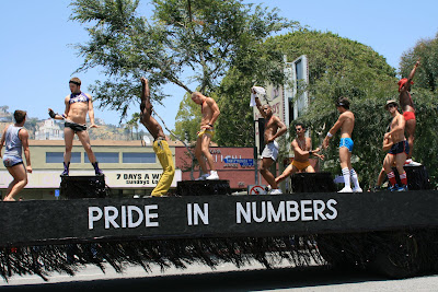 Pride in numbers float