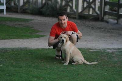 Charlie & Cooper in Santa Monica at 16 weeks