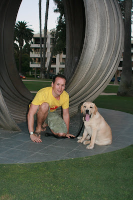 Jason & Cooper in Santa Monica, Palisades Park