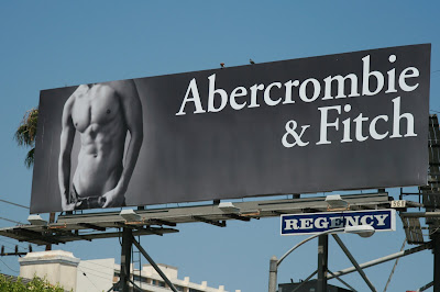 Hot new Abercrombie & Fitch male model billboard on Sunset Blvd - August 2008