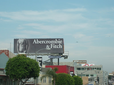 Hot new Abercrombie & Fitch male model torso billboard on Sunset Blvd - August 2008