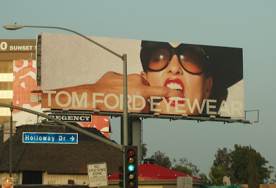Stylish Tom Ford eyewear billboard