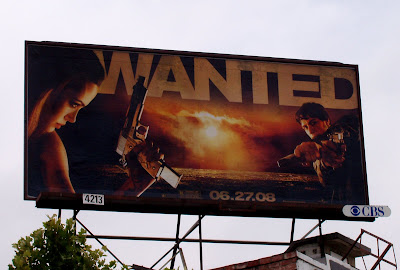 Wanted movie billboard