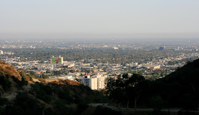 Los Angeles sprawling skyline from Runyon Canyon