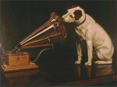His Master's Voice painting by Mark Barraud