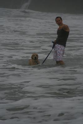 Ocean puppy and Jason