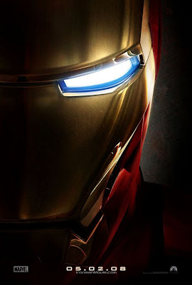 Iron Man face movie poster