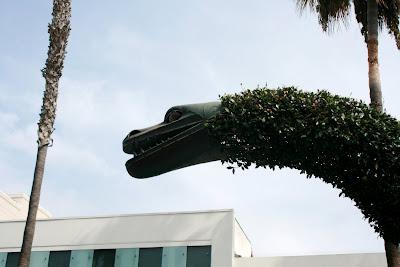 Dinosaur fountains of Santa Monica's 3rd Street