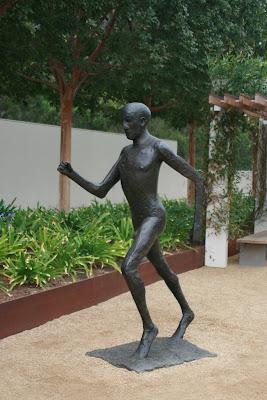 Elisabeth Frink's Running Man sculpture