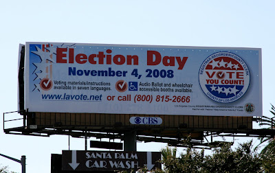 U.S. Presidential Election day billboard