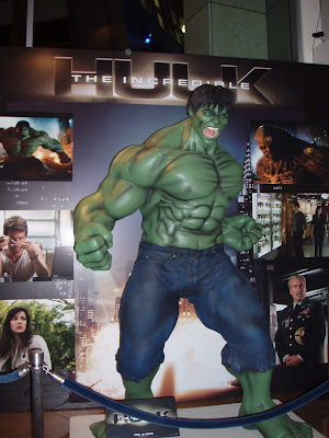 Incredible Hulk statue in Arclight Hollywood cinema foyer