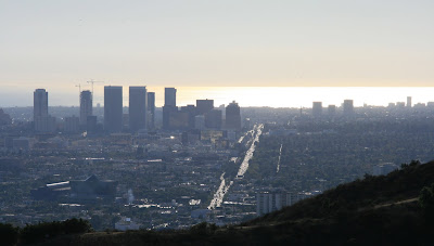 View of Santa Monica Blvd from Runyon Canyon