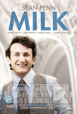 MILK movie poster featuring Sean Penn