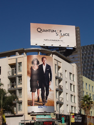 Bond Quantum of Solace billboard on Sunset Blvd