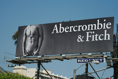 Hot male Abercrombie & Fitch model billboard