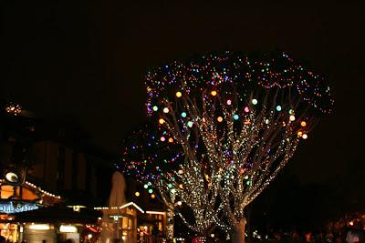 Disneyland California festive lights