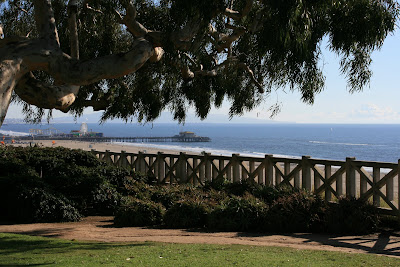 Santa Monica Pier viewed from Palisades Park