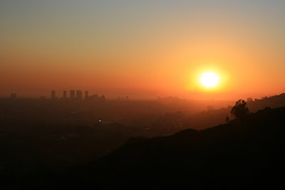 Runyon Canyon Los Angeles sunset