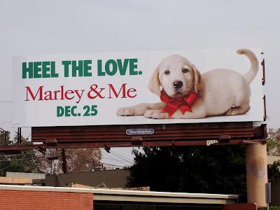 marley and me dog. Marley amp; Me film billboard