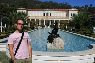 Jason at The Getty Villa in Malibu