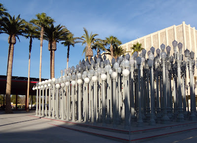 Chris Burden's permanent Urban Light installation at LACMA