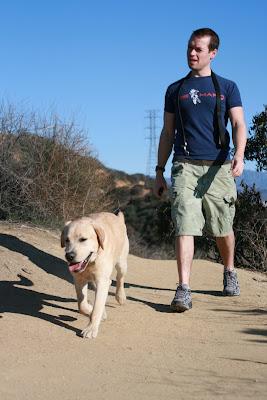 Walking the pup at Runyon Canyon