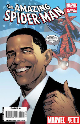 Amazing Spider-man issue 358 President Elect Obama cover third printing