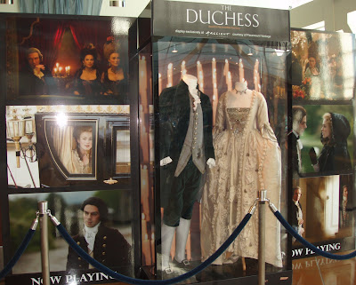 Costumes from the movie The Duchess on display at ArcLight Hollywood