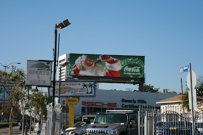 Classic Santa Christmas Coke billboard