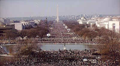 2 million spectators at President Obama's Inauguration day in Washington DC