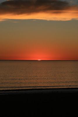 Santa Monica ocean sunset
