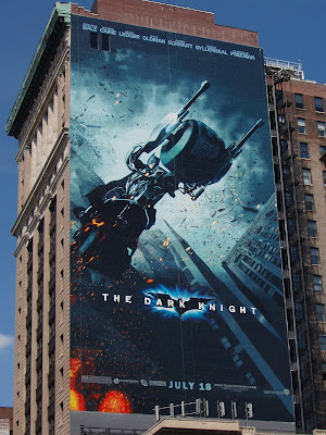 The Dark Knight movie billboard in New York City