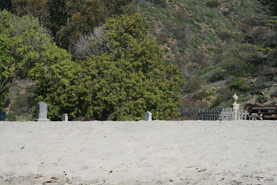 Graveyard film set at Sycamore Cove