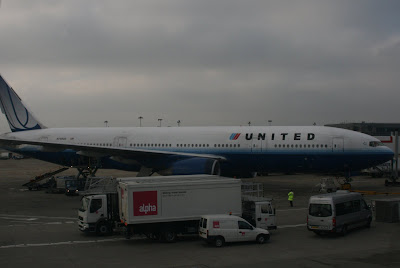 United Airlines plane at Heathrow Airport